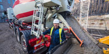 Eerste opleiding betonmixerchauffeur voor werkzoekenden